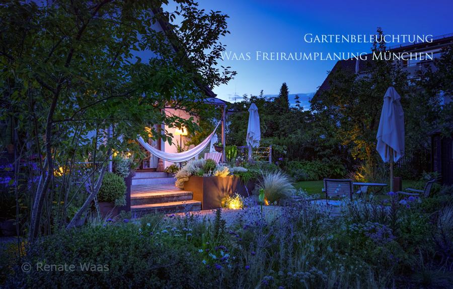 Moderne Stimmungsvolle Gartenbeleuchtung Renate Waas