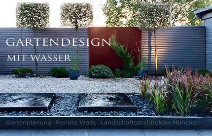 Gartendesign mit Wasser | Renate Waas Landschaftsarchitektin München