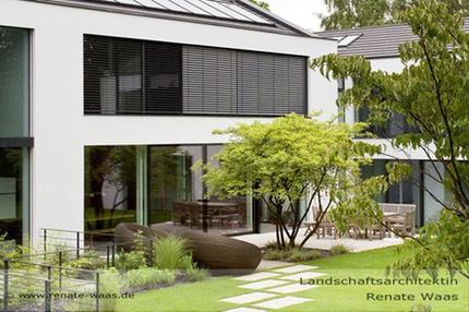 moderner Garten mit Gräsern, Gartenplanung Renate Waas