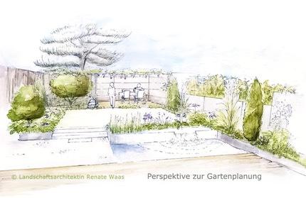 Doppelhaus h lfte garten renate waas muenchen for Gartengestaltung zeichnung