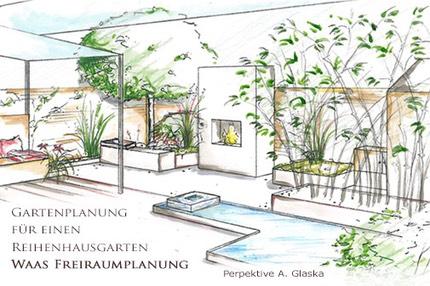 Gartenplanung Reihenhausgarten Od Moderner Stadtgarten