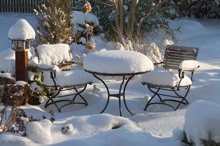 Unser Sitzplatz Im Winter Renate Waas Landschaftsarchitektin
