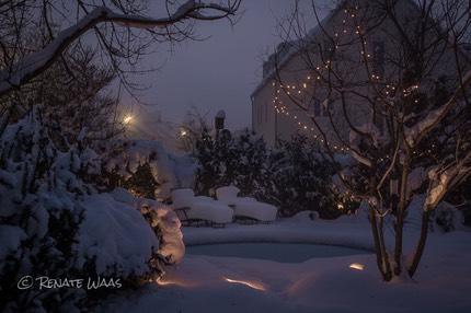 Unser Sitzplatz im Winter   Renate Waas ...